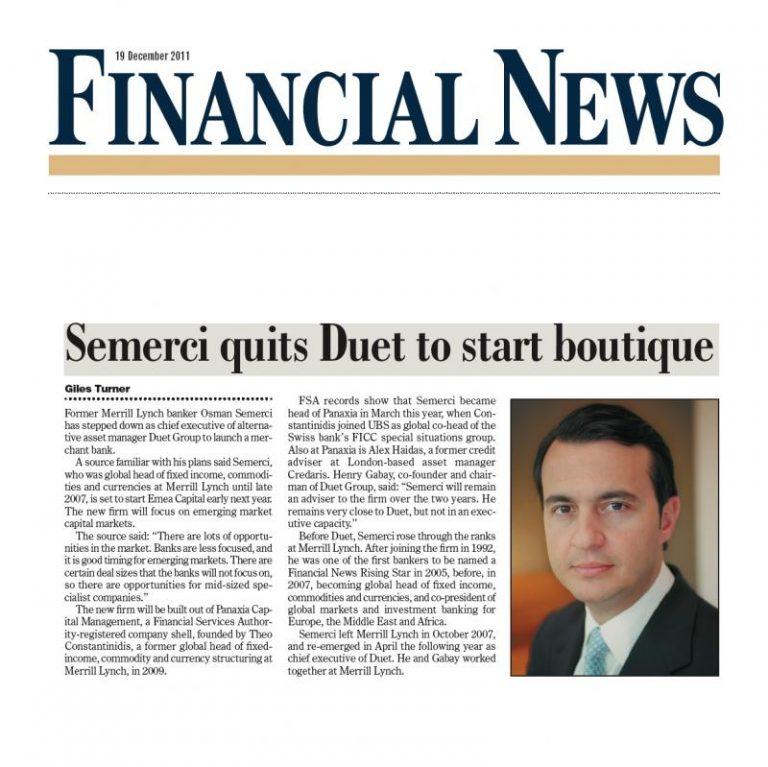 Financial News Osman Semerci